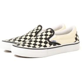 <WOMENS>VANS / Checker Slip-on レディース スニーカー Black/White 7.5