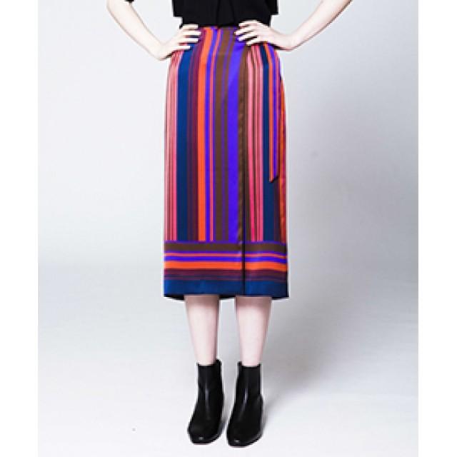 allureville マルチストライプラップスカート