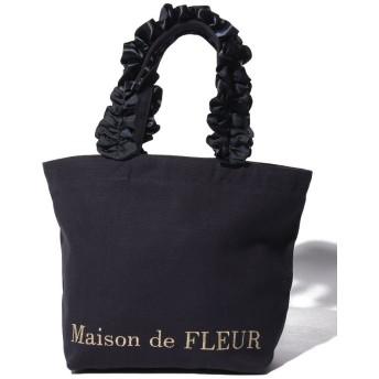 【10%OFF】 メゾンドフルール フリルハンドルトートSバッグ レディース ネイビー FREE 【Maison de FLEUR】 【タイムセール開催中】
