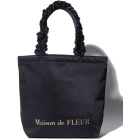 メゾンドフルール ヴィンテージサテンフリルトートMバッグ レディース ネイビー FREE 【Maison de FLEUR】