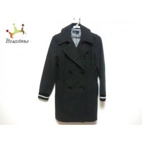 フレッドペリー FRED PERRY Pコート サイズS レディース ダークグレー×黒×白 冬物   スペシャル特価 20190928