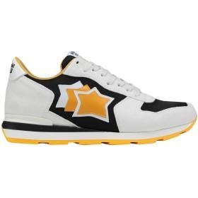 《送料無料》ATLANTIC STARS メンズ スニーカー&テニスシューズ(ローカット) ホワイト 40 革 / 紡績繊維 ANTAR