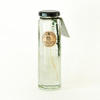 ハーバリウムグラスボトル ホワイトホワイト