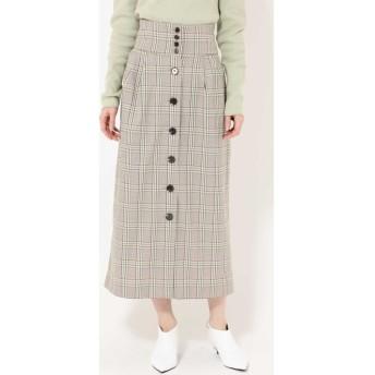 フロントボタンスカート グリーン
