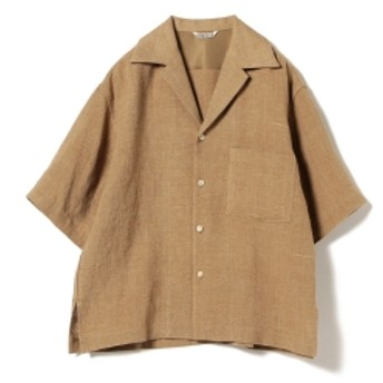 AURALEE / サマーツイード ハーフスリーブシャツ レディース カジュアルシャツ BR. CHAMBRAY 1