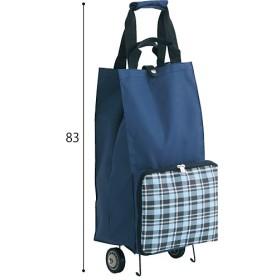 折りたたみショッピングカート - セシール ■カラー:ブルー系