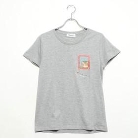 マンハッタナーズ Manhattaner's 半袖Tシャツ「格子のバロン」 (グレー)