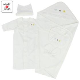 新生児5点セット 出産準備 オフホワイト インナー・パジャマ 新生児・乳児(50~80cm) 新生児肌着セット (51)