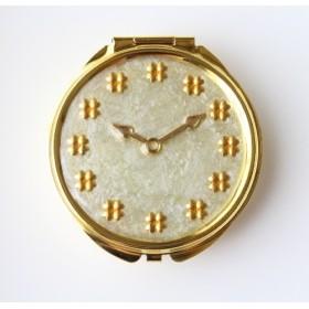 四つ葉のクローバー時計ピルケース(大)