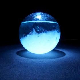球の世界(中玉)【ストームグラス】結晶観察のオブジェ 【受注制作】天気管