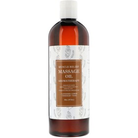 Muscle Relief Massage Oil, Aromatherapy, 16 oz (473 ml)