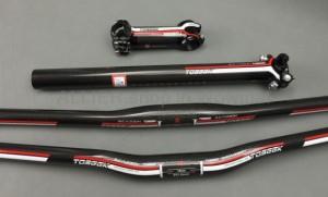 Carbon 3K MTB Road Bike riser bar 580-760 Handlebar 7° Stem 60-110 seatpost set