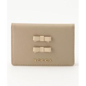 【オンワード】 TOCCA(トッカ) BI-COLOR TRAVEL CARD HOLD カードホルダー ベージュ F レディース 【送料無料】