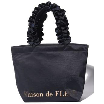 【10%OFF】 メゾンドフルール ヴィンテージサテンフリルトートSバッグ レディース ネイビー FREE 【Maison de FLEUR】 【タイムセール開催中】