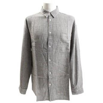 【Super Sports XEBIO & mall店:トップス】麻レーヨン素材チェックシャツ 8512130-01BLK