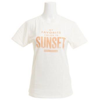 【Super Sports XEBIO & mall店:トップス】SUNSET スリム 半袖Tシャツ 870SW8CD2091 WHT
