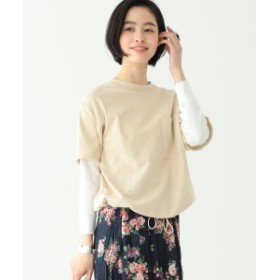 BEAMS BOY / レイヤード ポケット Tシャツ レディース カットソー NATURAL ONE SIZE