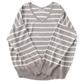 ボーダーニットTシャツ and myera フェリシモ FELISSIMO【送料無料】
