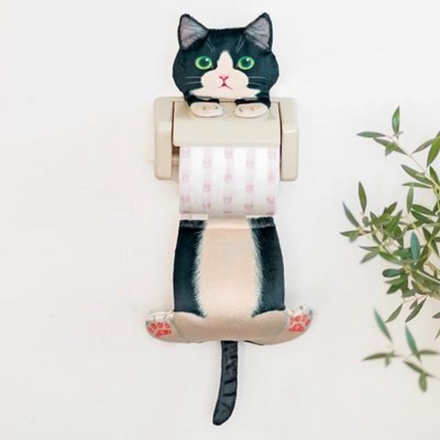 遊びにきたニャ! ぶらさがる猫のペーパーストッカーの会 フェリシモ FELISSIMO