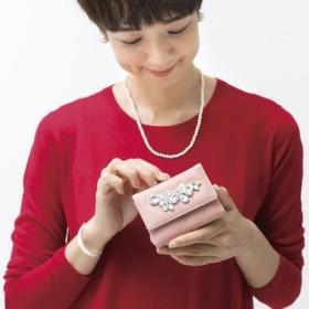 手のひらの上できらめく宝物!コンパクトでしっかり者のビジュー付きミニマム財布の会 フェリシモ FELISSIMO【送料無料】