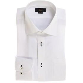 【m.f.editorial:トップス】形態安定スリムフィット ワイドカラー長袖ビジネスドレスシャツ