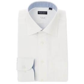 【SALE開催中】【THE SUIT COMPANY:トップス】【NON IRON】ワイドカラードレスシャツ 無地 〔EC・CLASSIC SLIM-FIT〕