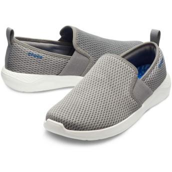 【クロックス公式】 ライトライド メッシュ スリップオン メン Men's LiteRide Mesh Slip-On メンズ、紳士、男性用 グレー/グレー 25cm,26cm,27cm,28cm,29cm shoe 靴 シューズ 30%OFF