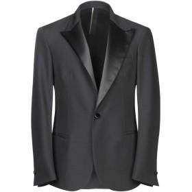 《期間限定 セール開催中》LOW BRAND メンズ テーラードジャケット ブラック 2 バージンウール 87% / モヘヤ 13%