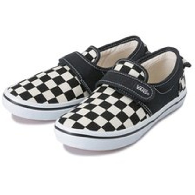 【SALE/送料無料】【ABC-MART:シューズ】V47CJ SLIP ON 47V(14-21) BLK/WHT CHK 574890-0002