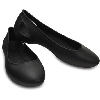 【クロックス公式】 クロックス ローラ フラット ウィメン Women's Crocs Laura Flat ウィメンズ、レディース、女性用 ブラック/黒 21cm,22cm,23cm,24cm,25cm,26cm flat フラットシューズ バレエシューズ ぺたんこシューズ