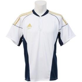 adidas(アディダス)野球 半袖Tシャツ 51 AP トレーニング チーム2ボタンシャツ Z GYJ76-S89938 メンズ J2XS WH/カレッジネイビ