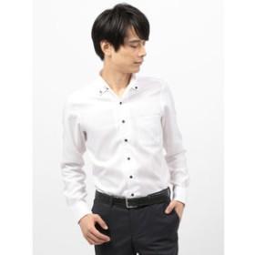 【THE SUIT COMPANY:トップス】【COOL MAX】2WAYカラードレスシャツ 織柄〔EC・CLASSIC SLIM-FIT〕