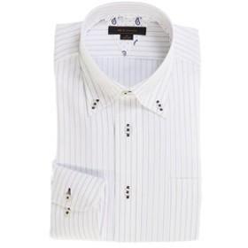 【m.f.editorial:トップス】形態安定レギュラーフィット ボタンダウン長袖ビジネスドレスシャツ