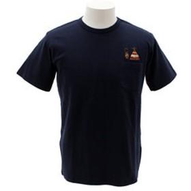 【Super Sports XEBIO & mall店:トップス】刺繍ポケット 半袖Tシャツ 1757201-3-NVY