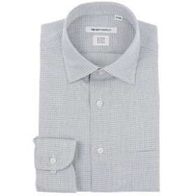 【THE SUIT COMPANY:トップス】【SUPER EASY CARE】ワイドカラードレスシャツ チェック 〔EC・FIT〕