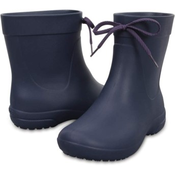 【クロックス公式】 クロックス フリーセイル ショーティー レイン ブーツ ウィメン Women's Crocs Freesail Shorty Rain Boot ウィメンズ、レディース、女性用 ブルー/青 21cm,22cm,23cm,24cm,25cm,26cm boot ブーツ