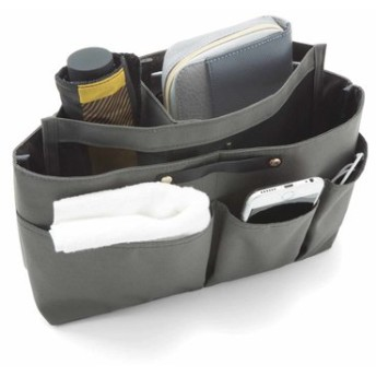 持ち物によって小部屋が自在に動く 段々バッグインバッグの会 フェリシモ FELISSIMO【送料:450円+税】