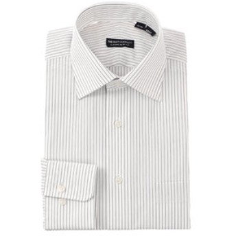 【THE SUIT COMPANY:トップス】ワイドカラードレスシャツ ストライプ 〔EC・CLASSIC SLIM-FIT〕