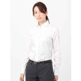 【THE SUIT COMPANY:トップス】High Quality Blouse ワイドカラー 織柄