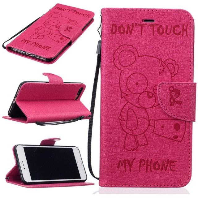 1b3b70ac71 iPhone7ケース 手帳型 おしゃれ 熊 くま クマ ストラップ iPhone7 Plusケース かわいい 手帳アイフォン7