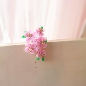 つまみ細工 桜のブローチ・コサージュ