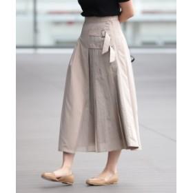 Ray BEAMS / チェック キリカエ ダブルベルト スカート レディース マキシ・ロング丈スカート BEIGE 0