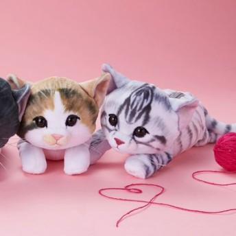 YOU+MORE! 夢のもちふわ触感 もっちり子猫ポーチの会 フェリシモ FELISSIMO【送料:450円+税】