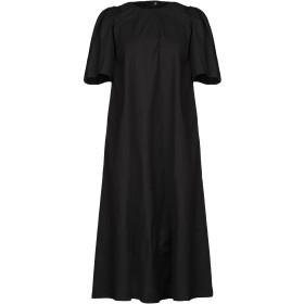 《期間限定セール開催中!》TWINSET レディース 7分丈ワンピース・ドレス ブラック 40 コットン 97% / ポリウレタン 3%
