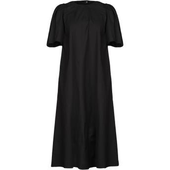 《セール開催中》TWINSET レディース 7分丈ワンピース・ドレス ブラック 40 コットン 97% / ポリウレタン 3%