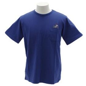 【Super Sports XEBIO & mall店:トップス】刺繍ポケット 半袖Tシャツ 1757202-3-BLU