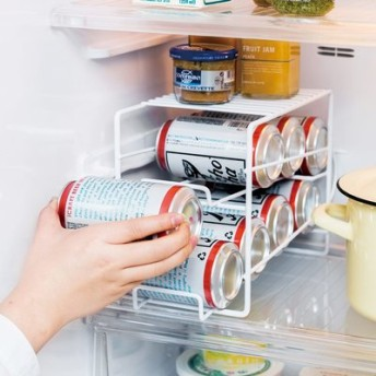 冷蔵ストックをスマート化! 上にも置ける缶ストッカー フェリシモ FELISSIMO【送料:450円+税】