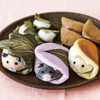 YOU+MORE! おもちハムスターの和菓子そっくりキーポーチの会 フェリシモ FELISSIMO【送料:450円+税】