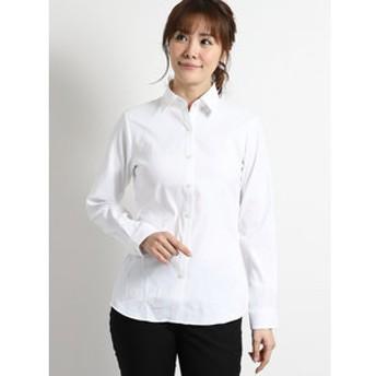 【TAKA-Q:トップス】形態安定ストレッチ レギュラーカラー長袖シャツ