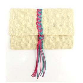 【ANAP:バッグ】編み紐デザインクラッチバッグ